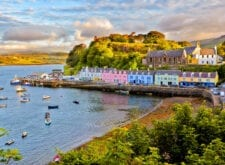 Portree village on the Isle of Skye
