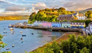 Portree village on the Isle of Skye