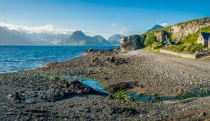 The village of Elgol on the Isle of Skye