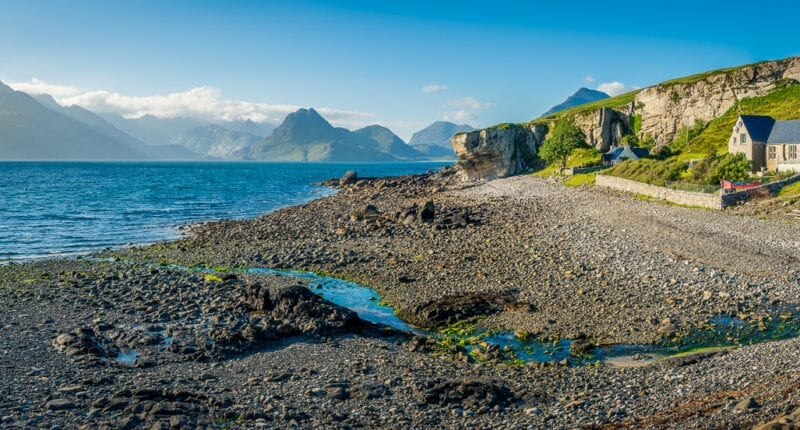 The village of Elgol on the Isle of Skye