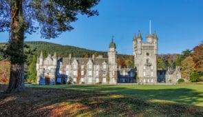 Balmoral Castle in late Autumn