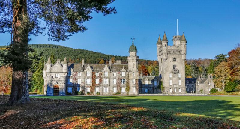 Balmoral Castle in late Autumn