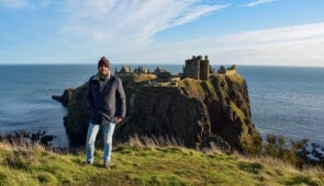 Dunnottar Castle in winter
