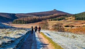 Frosty winter walk in Aberdeenshire