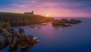 Sunrise at New Slains Castle