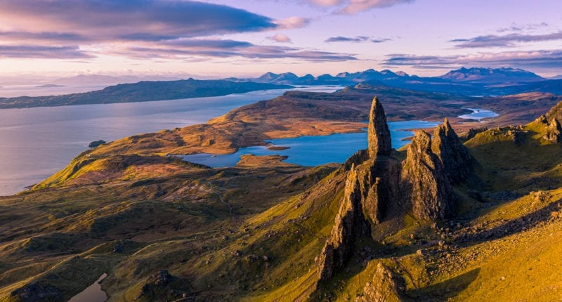 View from The Storr on the Isle of Skye