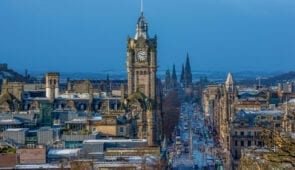 View of Princes Street in Edinburgh