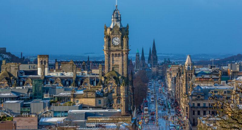 View of Princes Street in Edinburgh