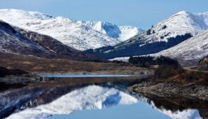 Loch Cluanie in the Scottish Highlands