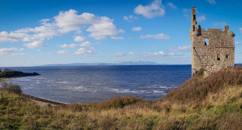 Greenan Castle on the Ayrshire coast