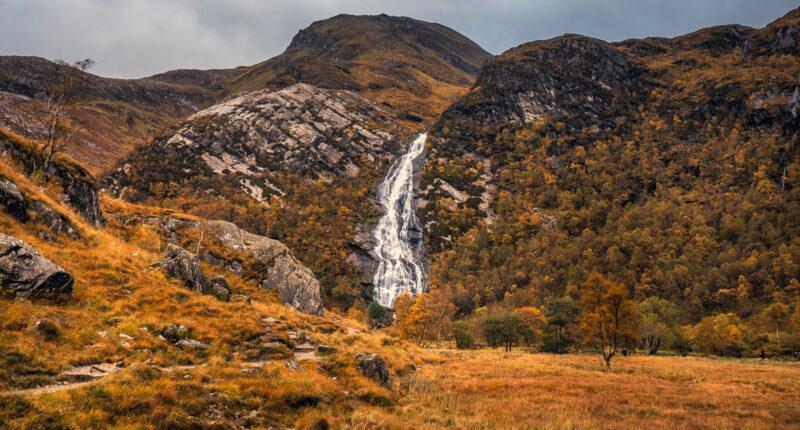 Steall Falls in Glen Nevis