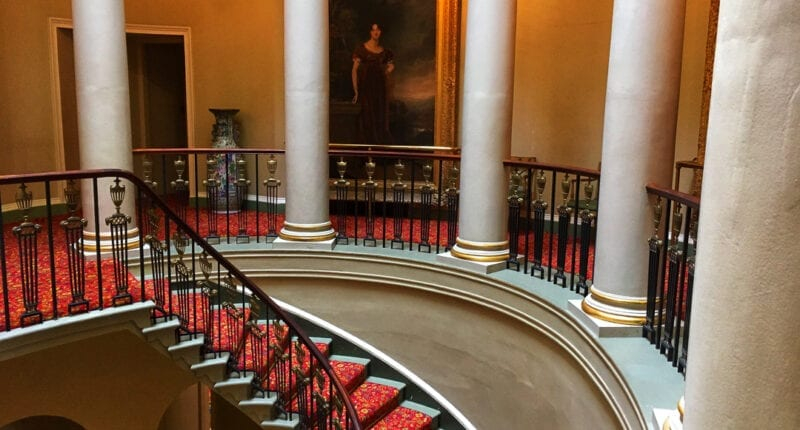 Oval stairway at Culzean Castle