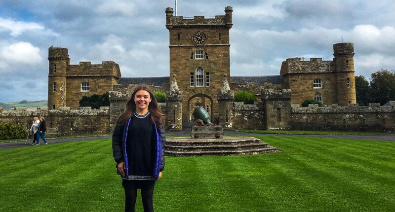 Outside Culzean Castle