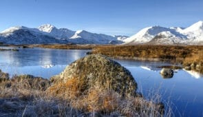 Lochan na h-achlaise and Black Mount, Rannoch Moor