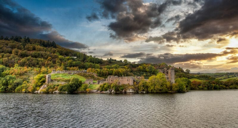 View of Urquhart Castle and Loch Ness