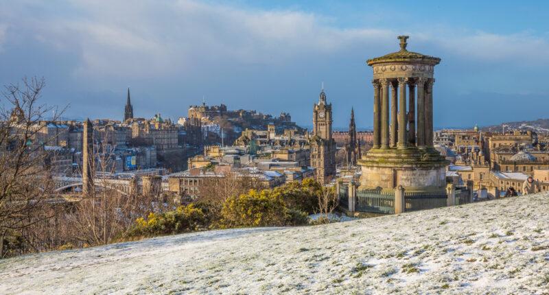 Views from Calton Hill in Edinburgh
