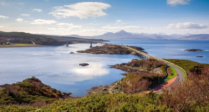The road bridge to the Isle of Skye