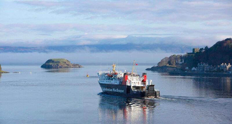Ferry departing Oban