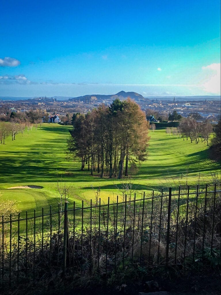 Edinburgh view from Corstorphine Hill