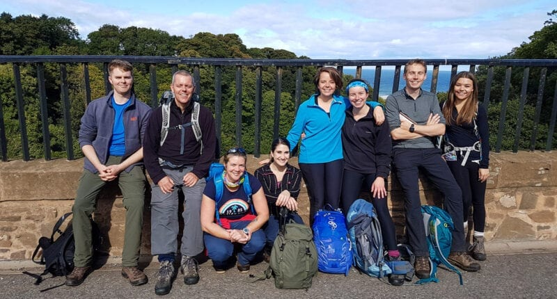 Absolute Escapes team on the Southern Upland Way