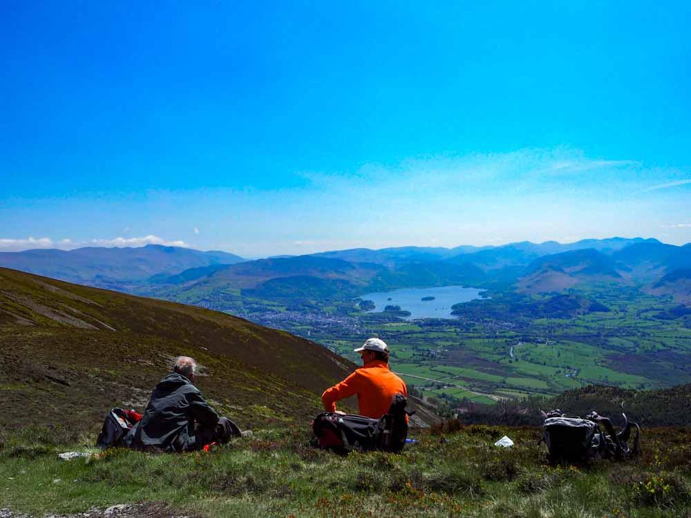 Lunch break on the Cumbria Way
