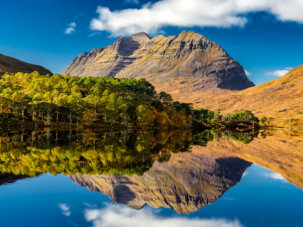 Reflection of Liathach in Torridon Hills