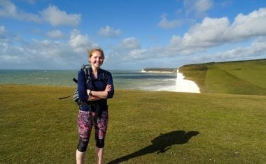 Charlotte on the South Downs Way