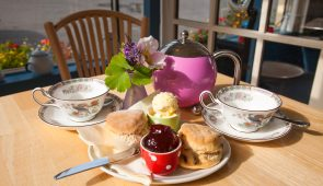 A traditional Devon cream tea