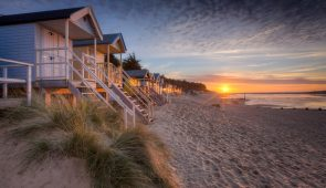 Beach huts at Wells-next-the-Sea on the North Norfolk coast