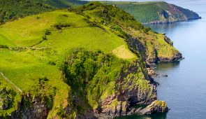 Devon Coastline near Lynton and Lynmouth