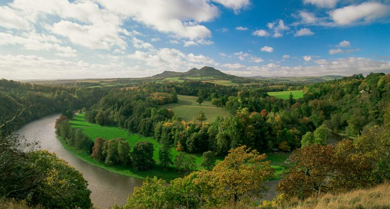 Eildon Hills and River Tweed, Scotland