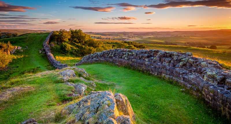 Hadrian's Wall sunset at Walltown