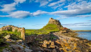 Lindisfarne Castle on the Northumberland coast