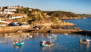 Mevagissey village on the South Cornish coast