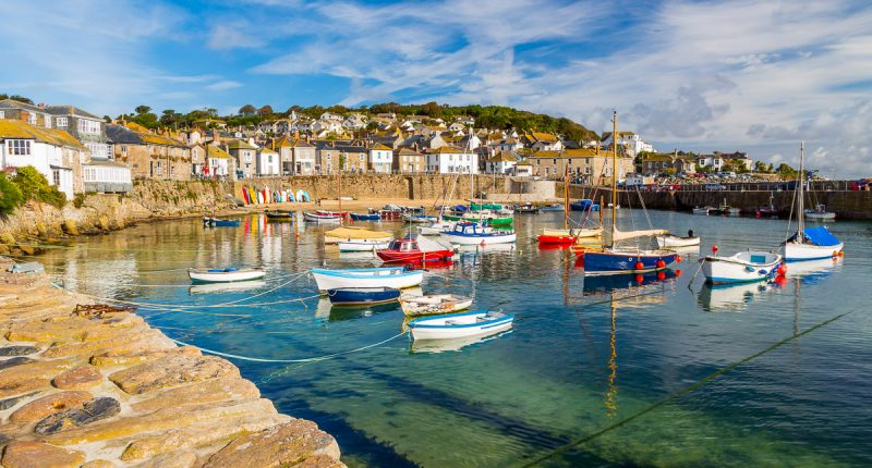 Mousehole Harbour near Penzance, Cornwall