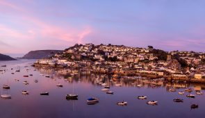 Sunset over Salcombe Bay in Devon