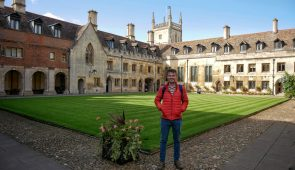 Scott from Absolute Escapes at Pembroke College in Cambridge