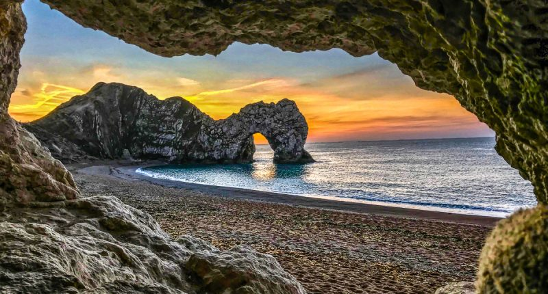 Sunset over Durdle Door