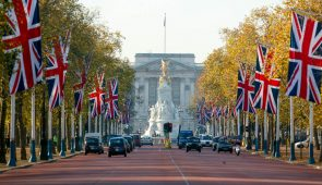 The Mall heading towards Buckingham Palace