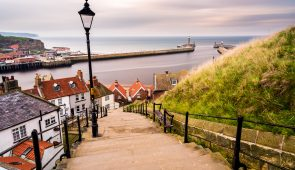 View down Whitby's famous 199 steps