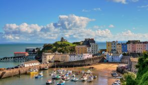 View of Tenby Harbour, Pembrokeshire