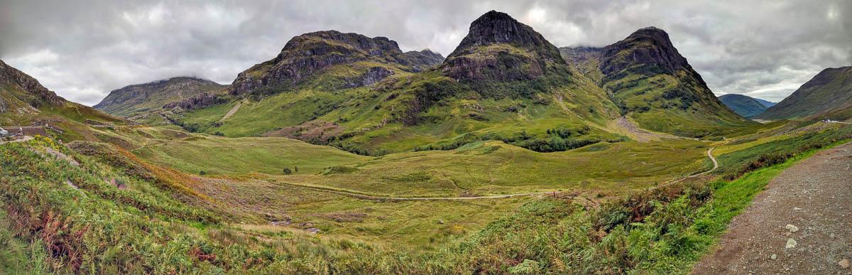 Glencoe panoramic view