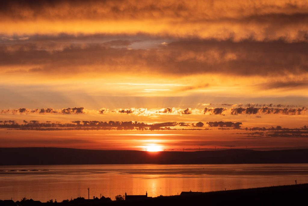 Orange sunset on Orkney