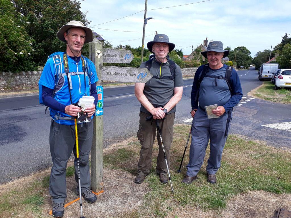 St Cuthbert's Way walkers